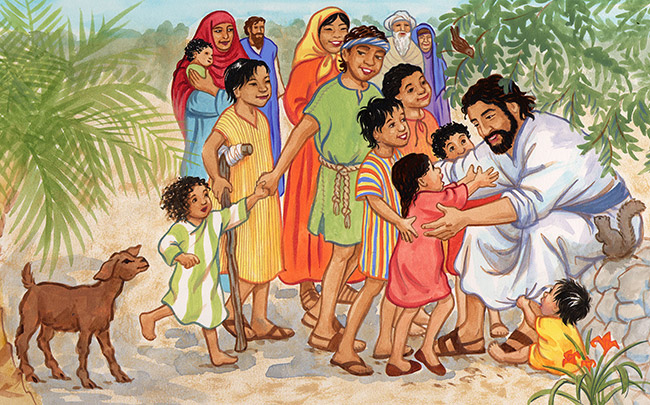 Jesus and the Children Illustration